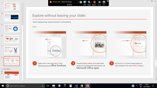 live stream powerpoint
